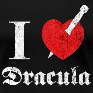 I love (to kill) Dracula (white, dd print) Women's T-Shirts - Women's Premium T-Shirt