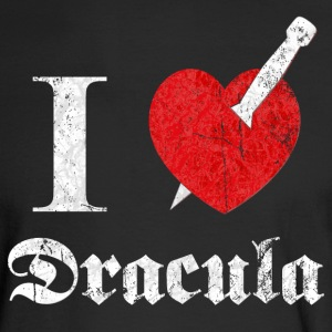 I love (to kill) Dracula (white, dd print) Long Sleeve Shirts - Men's Long Sleeve T-Shirt