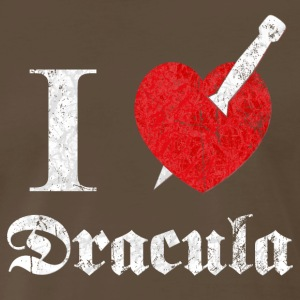 I love (to kill) Dracula (white, dd print) T-Shirts - Men's Premium T-Shirt