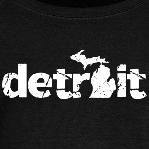 DETROIT MICHIGAN Long Sleeve Shirts - Women's Wideneck Sweatshirt