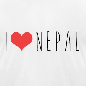 I LOVE NEPAL T-Shirts - Men's T-Shirt by American Apparel