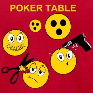 Poker Table Position T-Shirts - Men's T-Shirt by American Apparel
