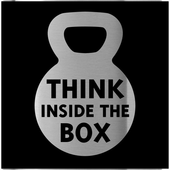 Think Inside the Box Water Bottle