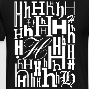 The Letter H Shirt - Men's Premium T-Shirt