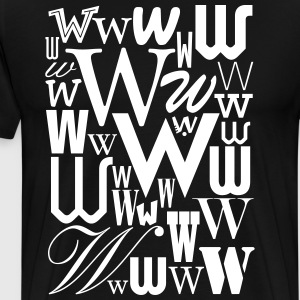 The Letter W Shirt - Men's Premium T-Shirt