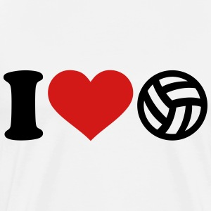 I love Volleyball T-Shirts - Men's Premium T-Shirt
