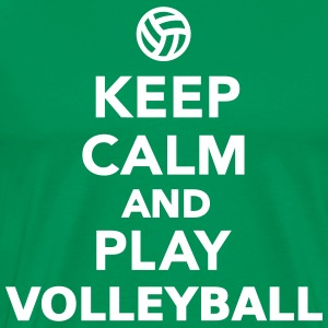 Keep calm and play Volleyball T-Shirts - Men's Premium T-Shirt