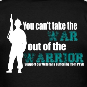 Men's PTSD Awareness T-Shirt (ribbon on front) - Men's T-Shirt