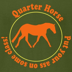 Quarter Horse T-Shirts - Men's T-Shirt by American Apparel