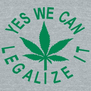 men's tri-blend vintage shirt yes we can legalize  - Unisex Tri-Blend T-Shirt by American Apparel