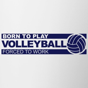 Born to play volleyball Accessories - Contrast Coffee Mug
