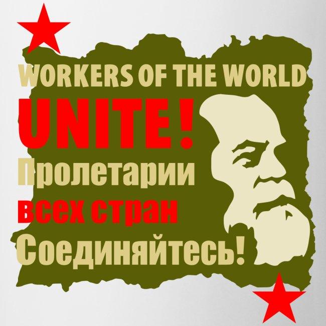 Karl Marx Workers Unite Coffee Mug