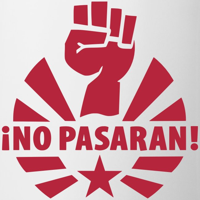 No Pasaran Raised Fist Coffee Mug
