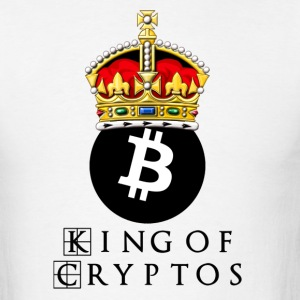 Bitcoin King Cryptos Nerd - Men's T-Shirt