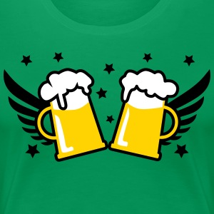 2 Beer steins with Wings & Stars Party 3c Women's  - Women's Premium T-Shirt