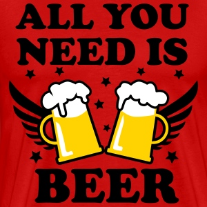 04 All you need is beer 3c Funny Party Design Man  - Men's Premium T-Shirt