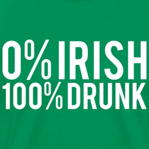 0% Irish 100% Drunk - Men's Premium T-Shirt
