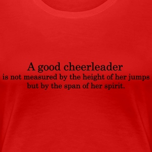 Cheerleader Quote 1 Women's T-Shirts - Women's Premium T-Shirt