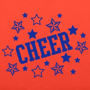 Cheerleader Cheer with Stars Print Bags & backpacks - Tote Bag