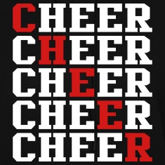 Cheer Times Five Two Color Design Hoodies