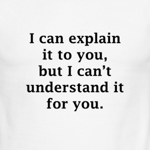 I Can Explain it to you, but I Can't Understand it - Men's Ringer T-Shirt