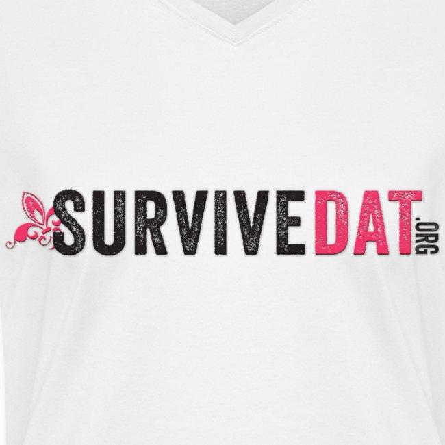 SurviveDAT Women's V-Neck T-shirt