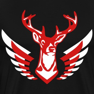 deer bachelor party fun funny love stag nigh moose - Men's Premium T-Shirt