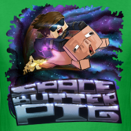 Design ~ Men's T Shirt: SPACE BUTTER PIG!