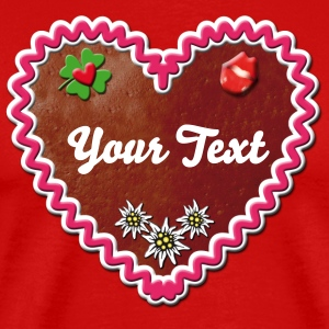 Lebkuchenherz Gingerbread Heart Kiss Luck Ribbon - Men's Premium T-Shirt