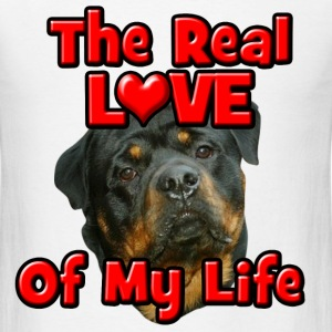 Rottweiler, The Real Love Of My Life T-Shirts - Men's T-Shirt