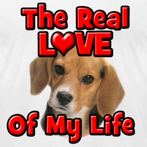 Beagle, The Real Love Of My Life T-Shirts - Men's T-Shirt by American Apparel