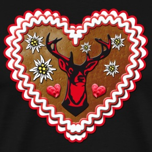Lebkuchenherz Gingerbread DEER Rudolph Christmas - Men's Premium T-Shirt