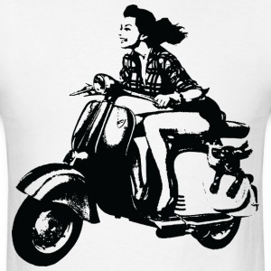 Woman on Moped T-Shirts - Men's T-Shirt