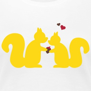 squirrels in love Women's T-Shirts - Women's Premium T-Shirt