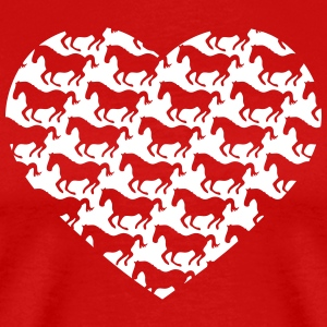 I love ponies i love horse riding I heart pattern T-Shirts - Men's Premium T-Shirt