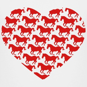 I love ponies i love horse riding I heart pattern Kids' Shirts - Kids' Premium T-Shirt