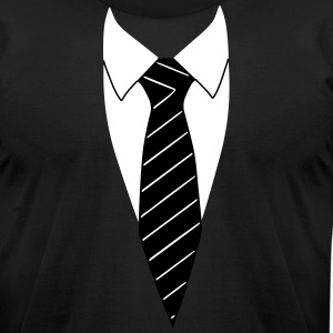 Suit / Necktie T-Shirts - Men's T-Shirt by American Apparel