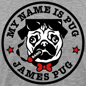 02 My Name is Pug - James Pug Bond 3c Man Men's T- - Men's Premium T-Shirt