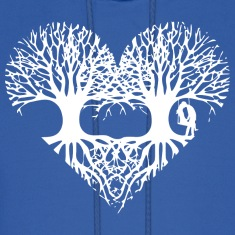valentine's day tree heart love roots couple kiss  Hoodies