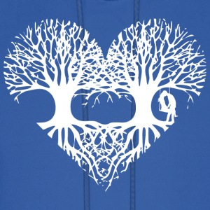 valentine's day tree heart love roots couple kiss  Hoodies - Men's Hoodie
