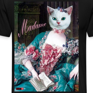04 Cat Madame Lady Queen Princess Beauty Luxus Des - Men's Premium T-Shirt