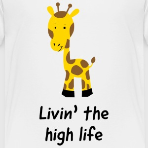 Giraffe. Livin the high life Kids' Shirts - Kids' Premium T-Shirt