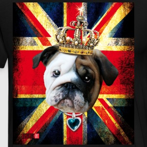 50 English Bulldog Baby Bully Union Jack UK Flag I - Men's Premium T-Shirt