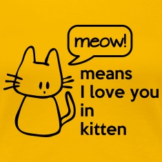MEOW means I love you in kitten Women's T-Shirts