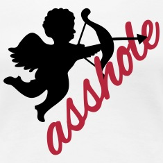 Cupid is an asshole - anti valentines'day  Women's T-Shirts
