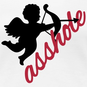 Cupid is an asshole - anti valentines'day  Women's T-Shirts - Women's Premium T-Shirt