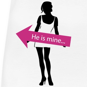 He is mine... partner shirt Women's T-Shirts - Women's Premium T-Shirt