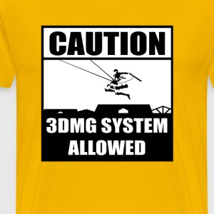 3DMG Caution T-Shirts - Men's Premium T-Shirt