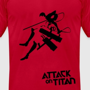 Attack on titan T-Shirts - Men's T-Shirt by American Apparel