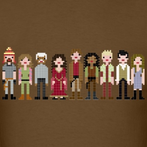 Firefly Cast Cross Stitch T-Shirts - Men's T-Shirt